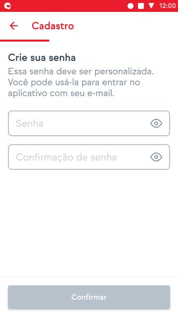 Tela de senha do app iFood entregadores